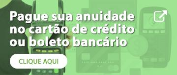 Pague sua anuidade no cartão de crédito ou boleto bancário